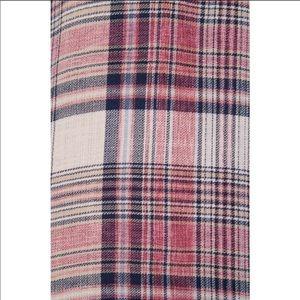 James Perse Tops - James Perse   Shoreditch Plaid Pocket Shirt Ember